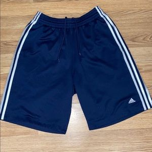 Adidas Mens 3 stripe basketball shorts